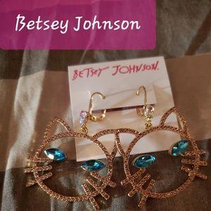 Betsey Johnson Kitty Kat Dangles NWT